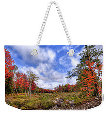 Weekender Tote Bag featuring the photograph Autumn On The Stream by David Patterson