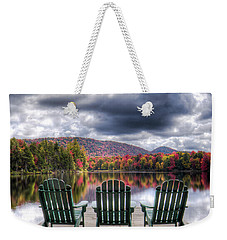 Weekender Tote Bag featuring the photograph Autumn On West Lake by David Patterson