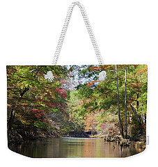 Autumn Over Golden Waters Weekender Tote Bag by Lana Trussell