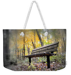 Autumn Park Bench Weekender Tote Bag