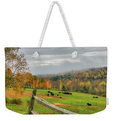 Weekender Tote Bag featuring the photograph Autumn Pasture -  by Joann Vitali