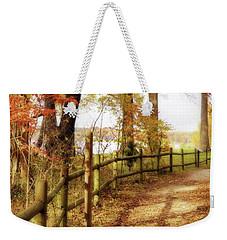 Autumn Pathway Weekender Tote Bag