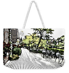 Autumn Patio Weekender Tote Bag