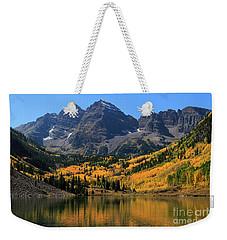 Autumn Peaks Weekender Tote Bag by Paula Guttilla