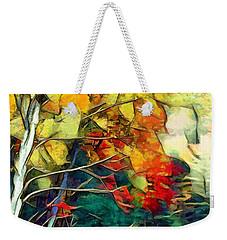 Weekender Tote Bag featuring the digital art Autumn by Pennie McCracken