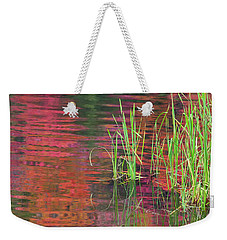 Weekender Tote Bag featuring the photograph Autumn Pond Colors by Alan L Graham