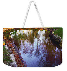 Autumn Reflection Pond Weekender Tote Bag