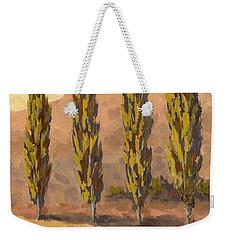 Autumn Poplars Weekender Tote Bag