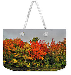 Weekender Tote Bag featuring the photograph Autumn Portrait by Kathleen Sartoris