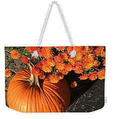 Autumn Pumpkin And Mums  Weekender Tote Bag