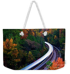 Autumn Rails Weekender Tote Bag