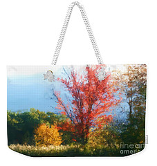 Autumn Red And Yellow Weekender Tote Bag
