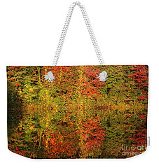 Autumn Reflections In A Pond Weekender Tote Bag