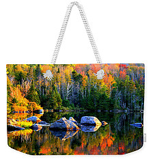 'autumn Reflections - Noyes Pond' Weekender Tote Bag