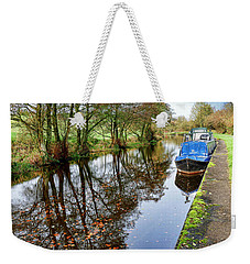 Autumn Reflections On  The Leeds Liverpool Canal Weekender Tote Bag