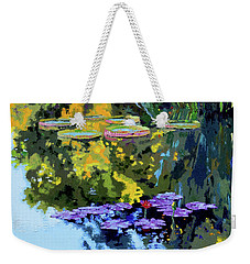 Autumn Reflections On The Pond Weekender Tote Bag