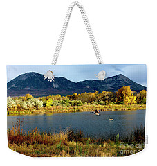 Autumn Rest Stop For Canadian Geese Weekender Tote Bag