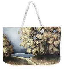 Autumn Road Weekender Tote Bag by Inese Poga