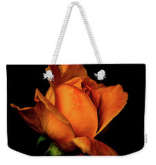 Weekender Tote Bag featuring the photograph Autumn Rose by Julie Palencia