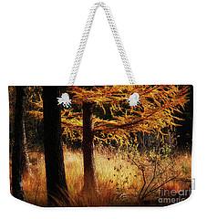 Autumn Scene In A Dark Forest Weekender Tote Bag by Nick Biemans