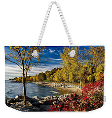 Autumn Scene Lake Ontario Canada Weekender Tote Bag