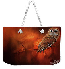 Autumn Screech Owl Weekender Tote Bag