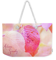 Autumn Serenity Weekender Tote Bag