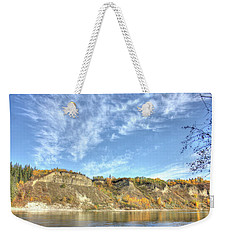 Autumn Sky On The River Weekender Tote Bag