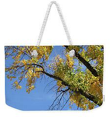 Autumn Sky Trails Weekender Tote Bag
