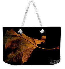 Autumn Solitary Leaf Weekender Tote Bag