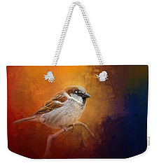 Autumn Sparrow Weekender Tote Bag