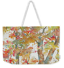 Weekender Tote Bag featuring the painting Autumn Splendor by Pat Katz