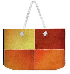 Autumn Squares Weekender Tote Bag