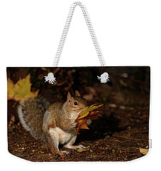 Autumn Squirrel Weekender Tote Bag