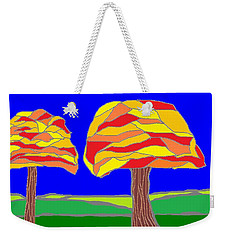 Autumn Stained Glass 1 Weekender Tote Bag