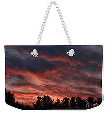 Weekender Tote Bag featuring the photograph Autumn Sunet by Kenny Glotfelty