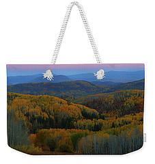 Autumn Sunrise At Rainbow Ridge Colorado Weekender Tote Bag by Jetson Nguyen