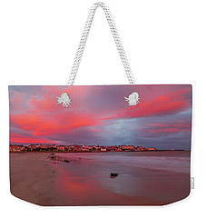 Weekender Tote Bag featuring the photograph Autumn Sunrise by Roy McPeak