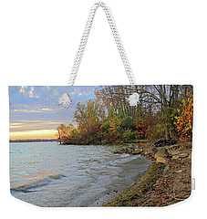 Autumn Sunset Weekender Tote Bag by Angela Murdock