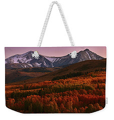 Autumn Sunset At Conway Summit In The Eastern Sierras Weekender Tote Bag