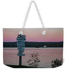 Autumn Sunset At Esopus Meadows Weekender Tote Bag