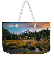 Autumn Sunset In Big Cottonwood Canyon Weekender Tote Bag