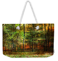 Autumn Sunset - In The Woods Weekender Tote Bag by Judy Palkimas