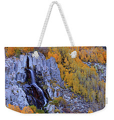 Autumn Surrounds Mist Falls In The Eastern Sierras Weekender Tote Bag