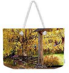 Rural Rustic Autumn Weekender Tote Bag
