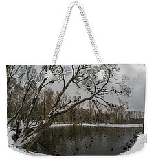 Weekender Tote Bag featuring the photograph Autumn Time 2 by Vladimir Kholostykh