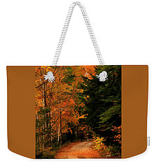 Autumn Trail Weekender Tote Bag