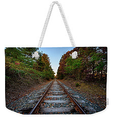 Autumn Train Weekender Tote Bag