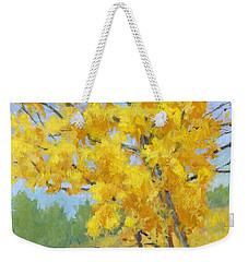 Weekender Tote Bag featuring the painting Autumn Tree by David King