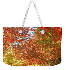 Autumn Trees Digital Watercolor Weekender Tote Bag